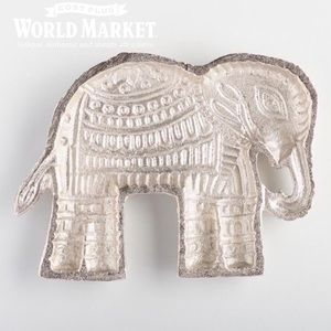 World Market Elephant Trinket Dish